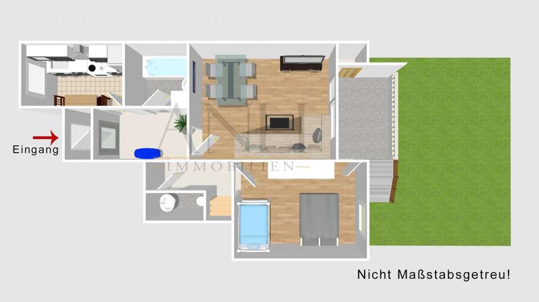 2 Zimmer Wohnung mit Loggia in Senden - Grundriss