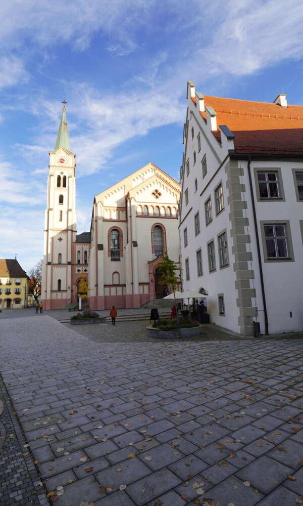 Weissenhorn - Rathaus Vorplatz