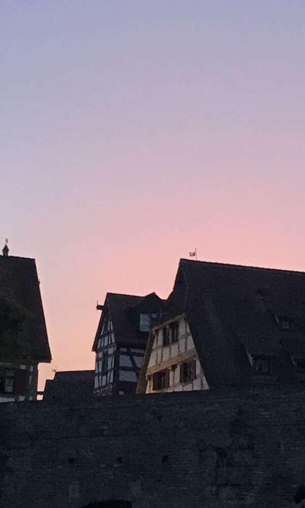 Ulm bei Dämmerung